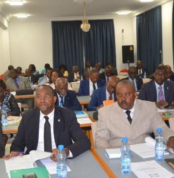 Les députés de la Commission des finances de l'Assemblée nationale du Gabon © HA