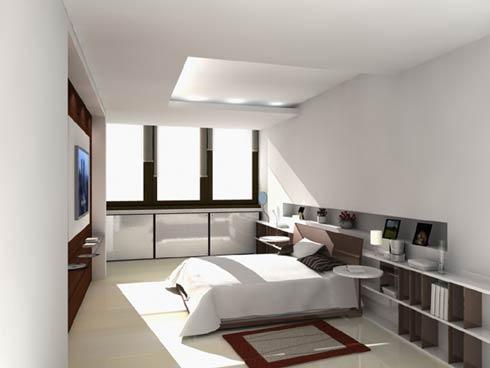 2. Inspiration sovrum - det kontrastfulla minimalistiska