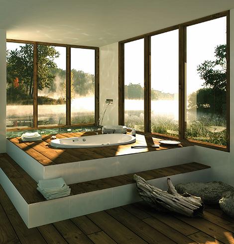 Vackert badkar och minst lika vacker natur