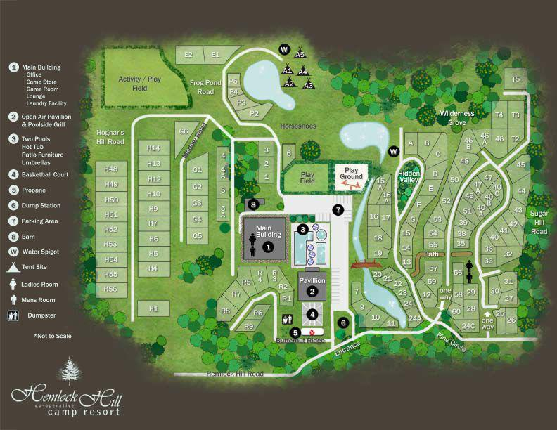 Hemlock Hill Campground Map