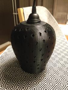 Designad lampa utskriven i 3D