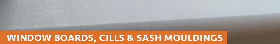 window boards, cills & sash mouldings