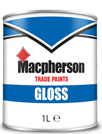 Macpherson Gloss 1L Brill White Black