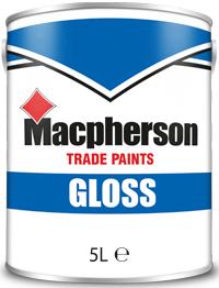 Macpherson Gloss 5L Brill White Black
