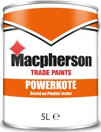 Macpherson Powerkote 5L Brill White Magnolia Black