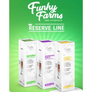 "Funky Farms CBD ""Reserve Line"" Full Spectrum Vape Cartridges and Ready to Use Pens"