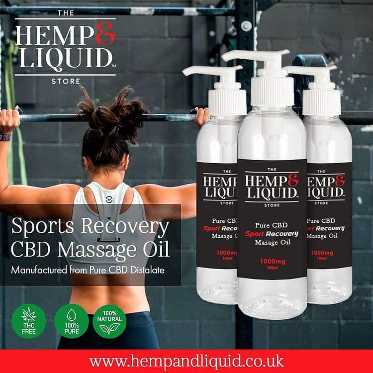 Sports Recovery CBD Massage Oil