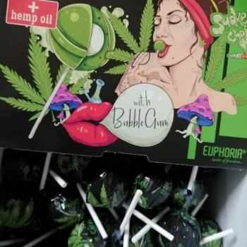 Deluxe Hemp Lollipops with Bubblegum