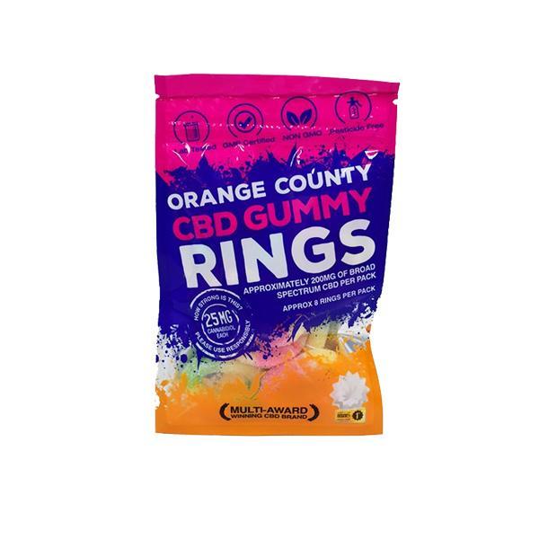 Orange County CBD Gummy rings small pack