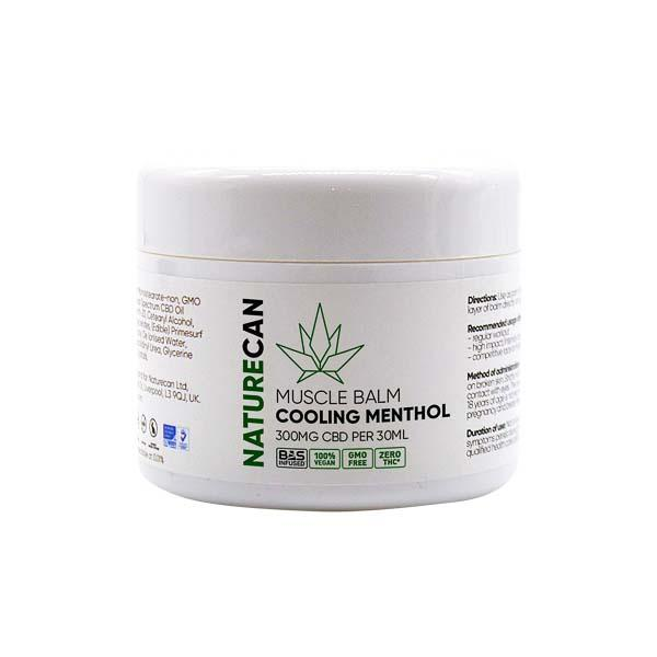 CBD BALM FOR PAIN ON WHITE BACKGROUND