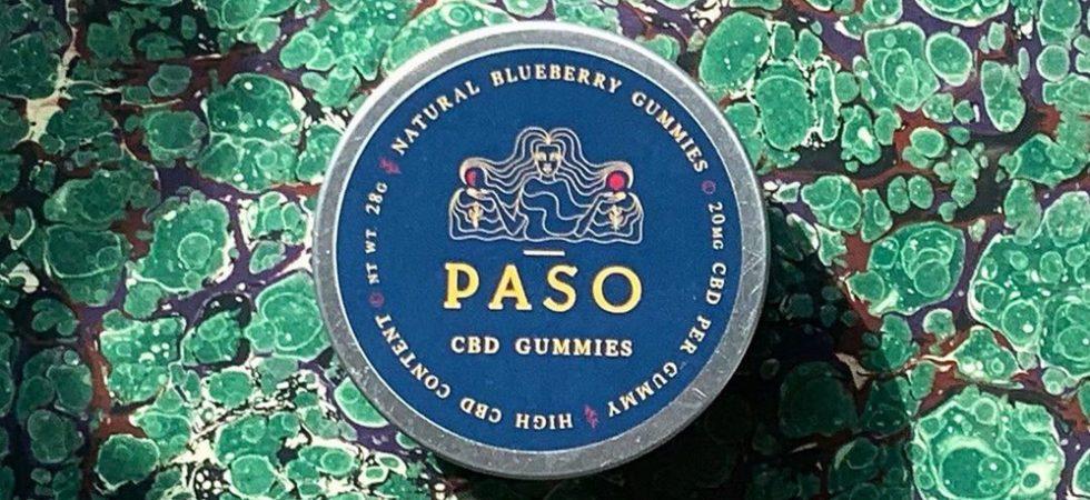 box of paso cbd gummies blueberry flavoured