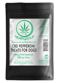 CBD Pepperoni Treats for Dogs 300mg per bag (10ct.)