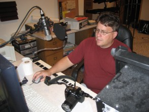 Jim setting up the recording software