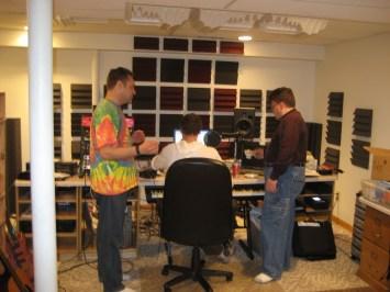 In the studio with Passive album