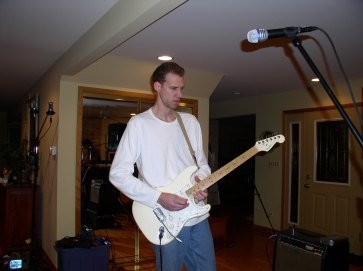 Mark ripping a great guitar track