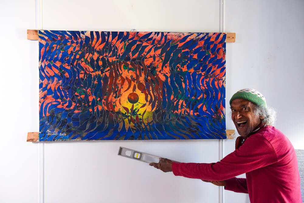 Artist Uses Hemp As His Canvas