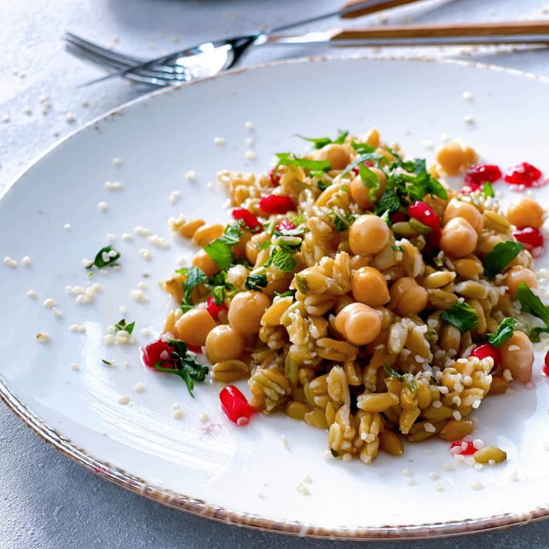 Grünkern-Hanf Salat