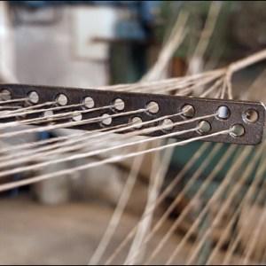 Making a four strand rope of tarred hemp