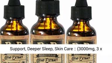 3 Pack of 1000mg Hemp Oil  Hemp Oil For Pain Relief- Hemp Oil for Sleep-Stress Relief- Mood Support