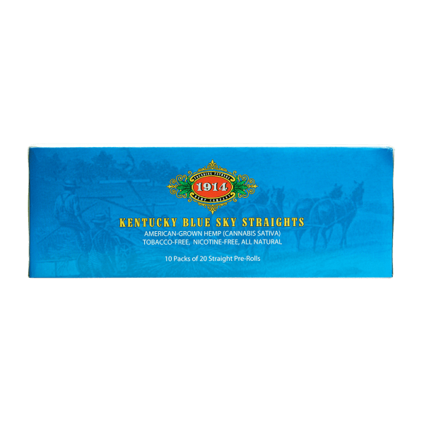 Bhang hemp preroll 1914 Straights Carton side