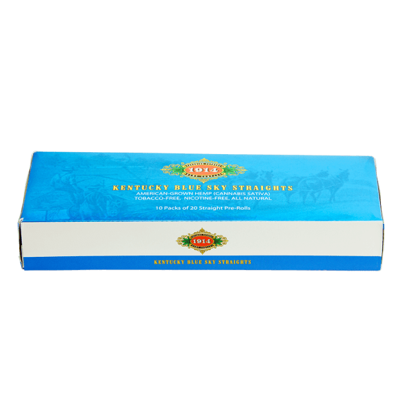 Bhang hemp preroll 1914 Straights Carton top angle