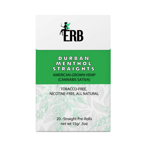 Bhang hemp preroll ERB Durban Menthol pack front