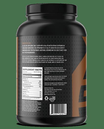Armourgenix fuelgenix chocolate whey protein side 2