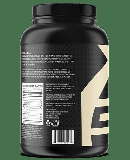 Armourgenix fuelgenix vanilla whey protein side 2
