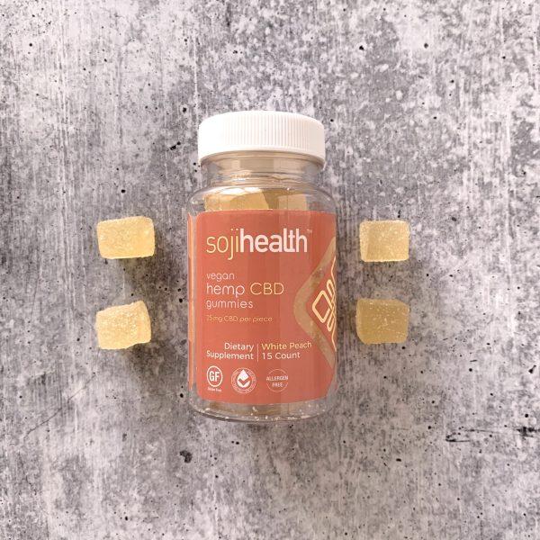Soji Health Vegan White Peach Gummies