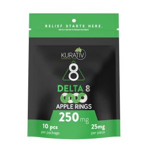 Kurativ Apple Rings Delta 8 Gummies 250mg