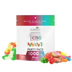 Kurativ THC Free CBG Gummies Party Pack 1000mg