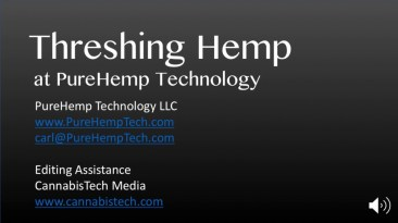 Threshing Hemp at PureHemp
