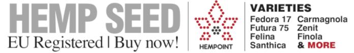 EU registered hemp seeds from Hempoint