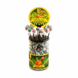 Sucettes au cannabis Strawberry Haze sans THC