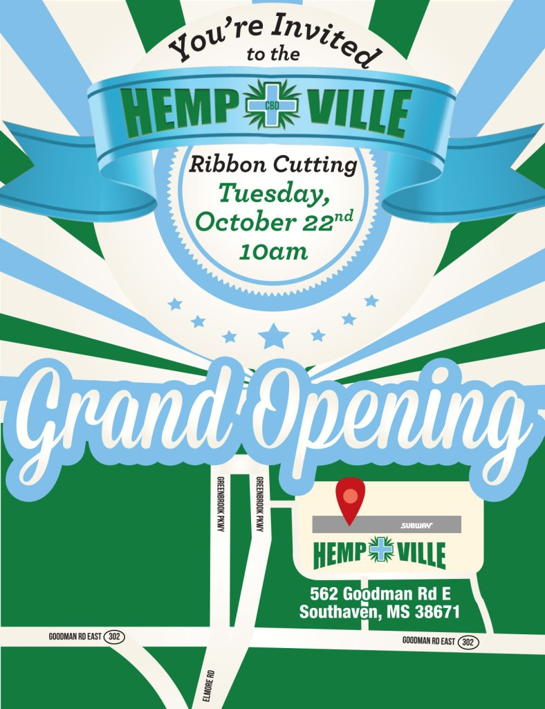 HempVille Ribbon Cutting Invite