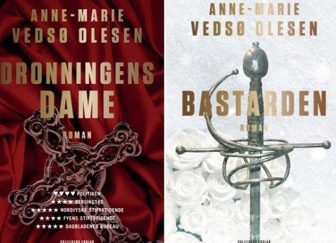 """Boganmeldelse af """"Dronningens Dame"""" oig """"Bastarden"""" af Anne-Marie Vedsø Olesen"""