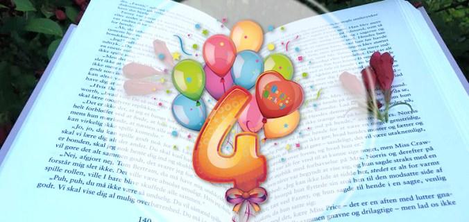 Bogfinken fylder 4 år! - Bogfinkens bogblog