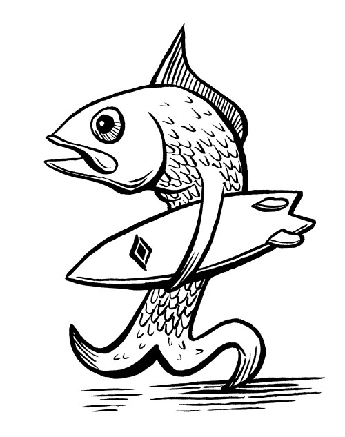 Inktober 3 – Fish with a Fish