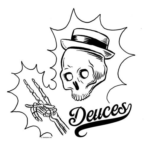 Inktober 5 – Deuces