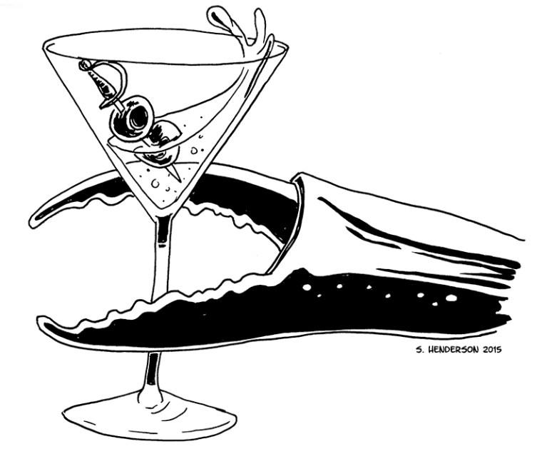 Inktober 6 – Crabby Martini