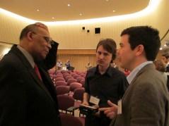 Seen & Heard: Larry Gibson with Damon Talbot (MdHS) & Eben Dennis (MdHS)