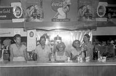 Women behind soda fountain lunch counter, circa 1950. Paul Henderson, HEN.00.B1-035.