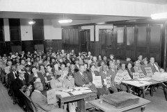 National Association for the Advancement of Colored People (NAACP) meeting for voter registration campaign. Paul Henderson, ca. 1948. MdHS, HEN.00.A2-147.