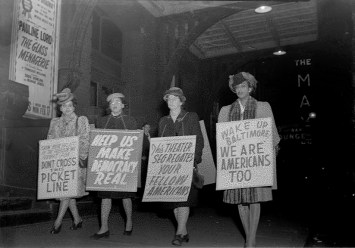 Protesting Ford's Theatre Jim Crow admission policy. Paul Henderson, ca. 1951. MdHS, HEN.00.A2-154.