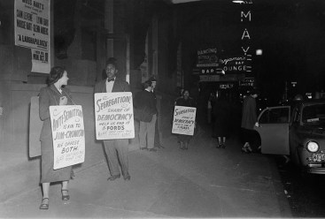 Protesting Ford's Theatre Jim Crow admission policy. Paul Henderson, ca. 1951. MdHS, HEN.00.A2-155.