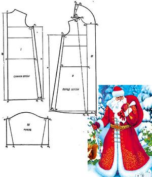 Пошив костюма Деда Мороза