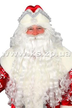 Изготовление бороды для Деда Мороза