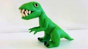 Пластилиннен динозаврлар