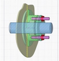 Stopfbuchse - Packungseinbauraum. Darstellung in 3D. Bild: Fa. Hendricks