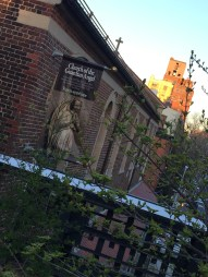 The Church of the Guardian Angel watching over NYC's Highline